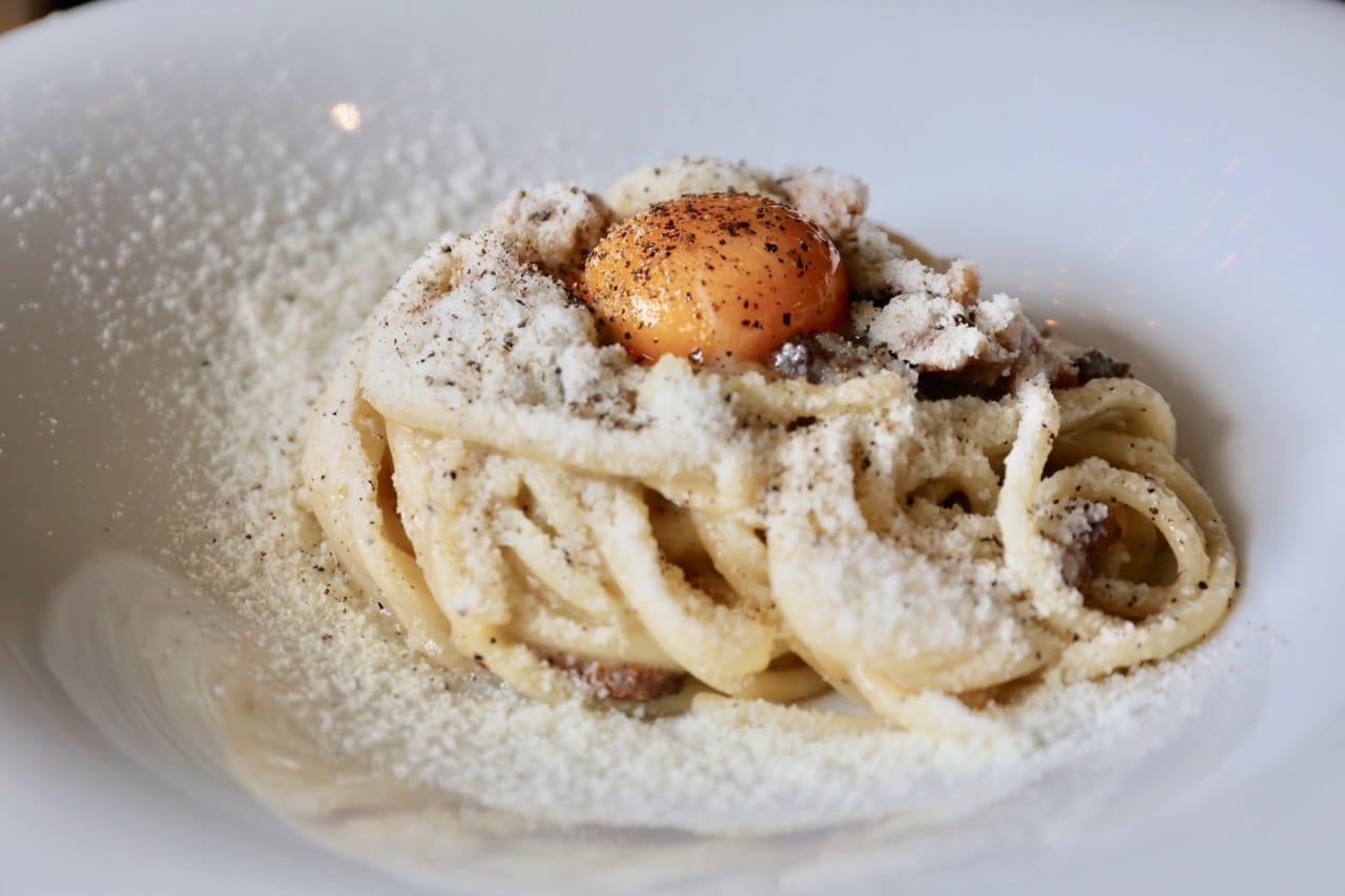 Italian brunch favourite, Spaghetti alla Carbonara.