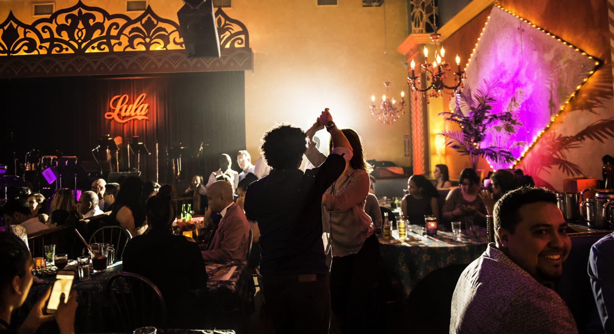 Live Music in Toronto: Salsa dancing at Lula Lounge.