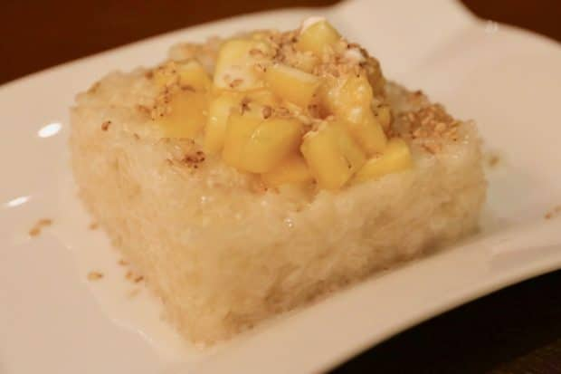 Thai Sweet Coconut Sticky Rice with Fresh Mango.