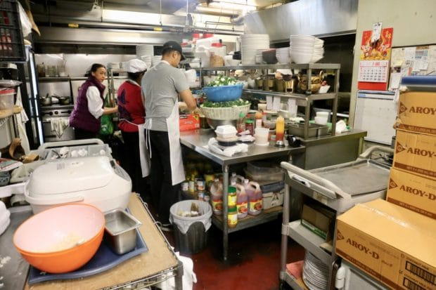 The kitchen at Mengrai Thai in Toronto.