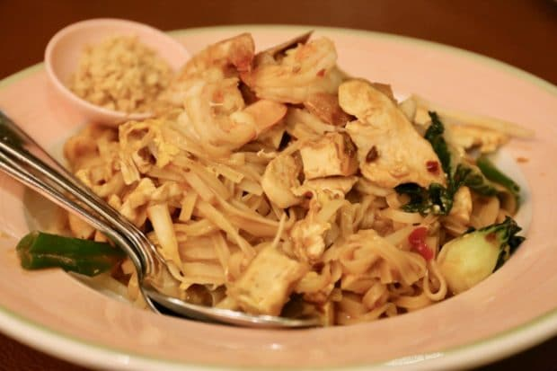Classic Pad Thai at Mengrai Thai restaurant.