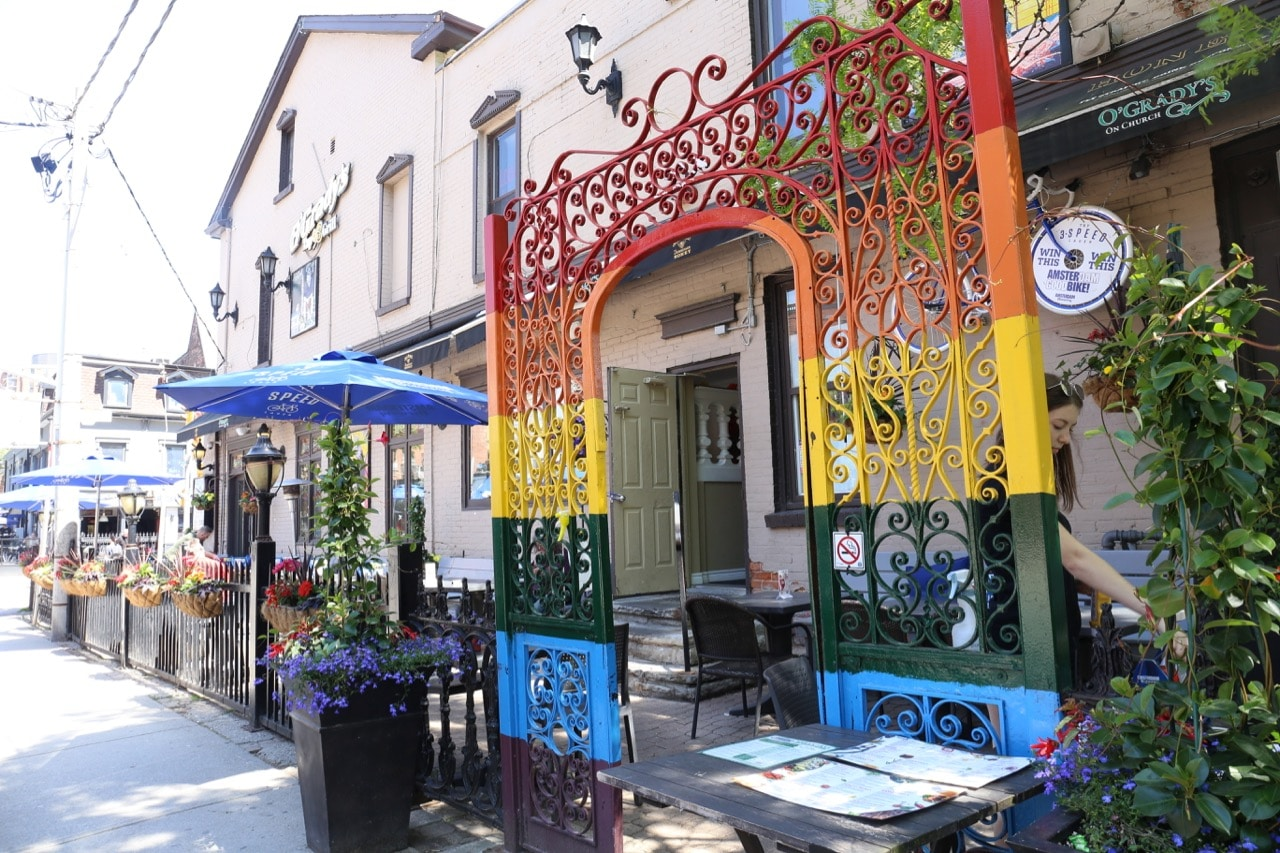 O'Gradys has the largest patio in The Village.
