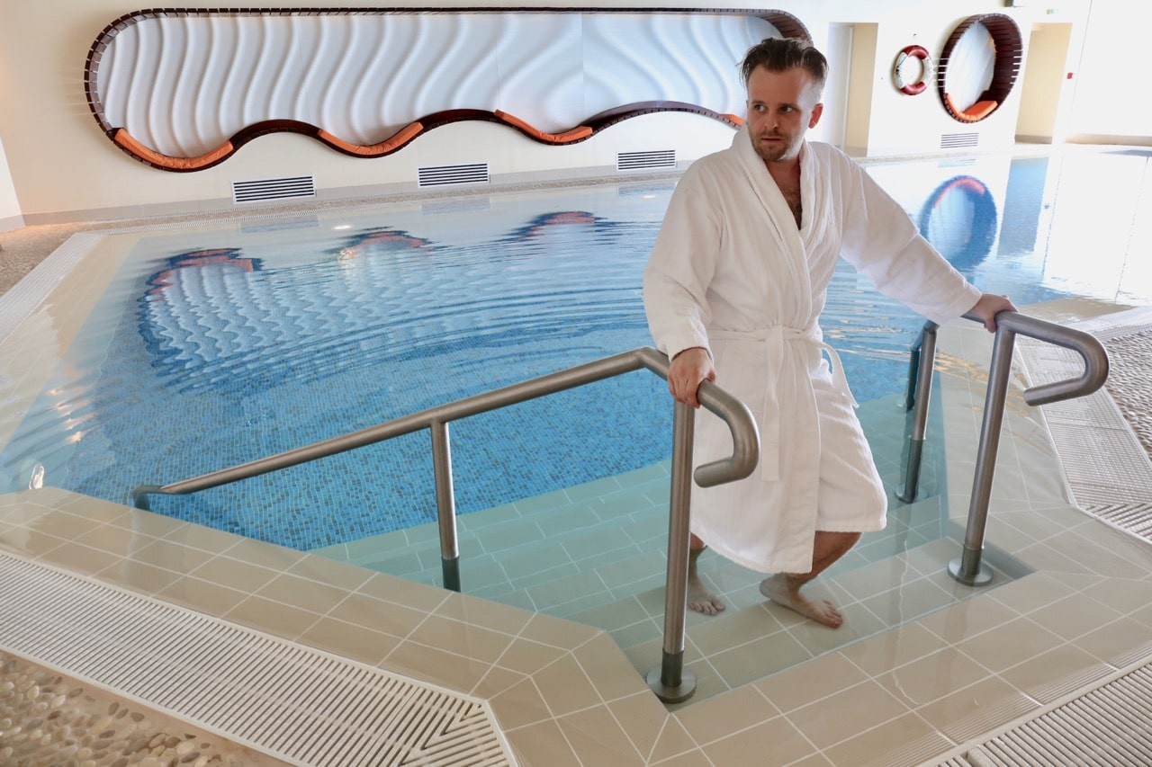 Spa Breaks Ireland: Rest and relax at Cliff House Ardmore's indoor swimming pool.