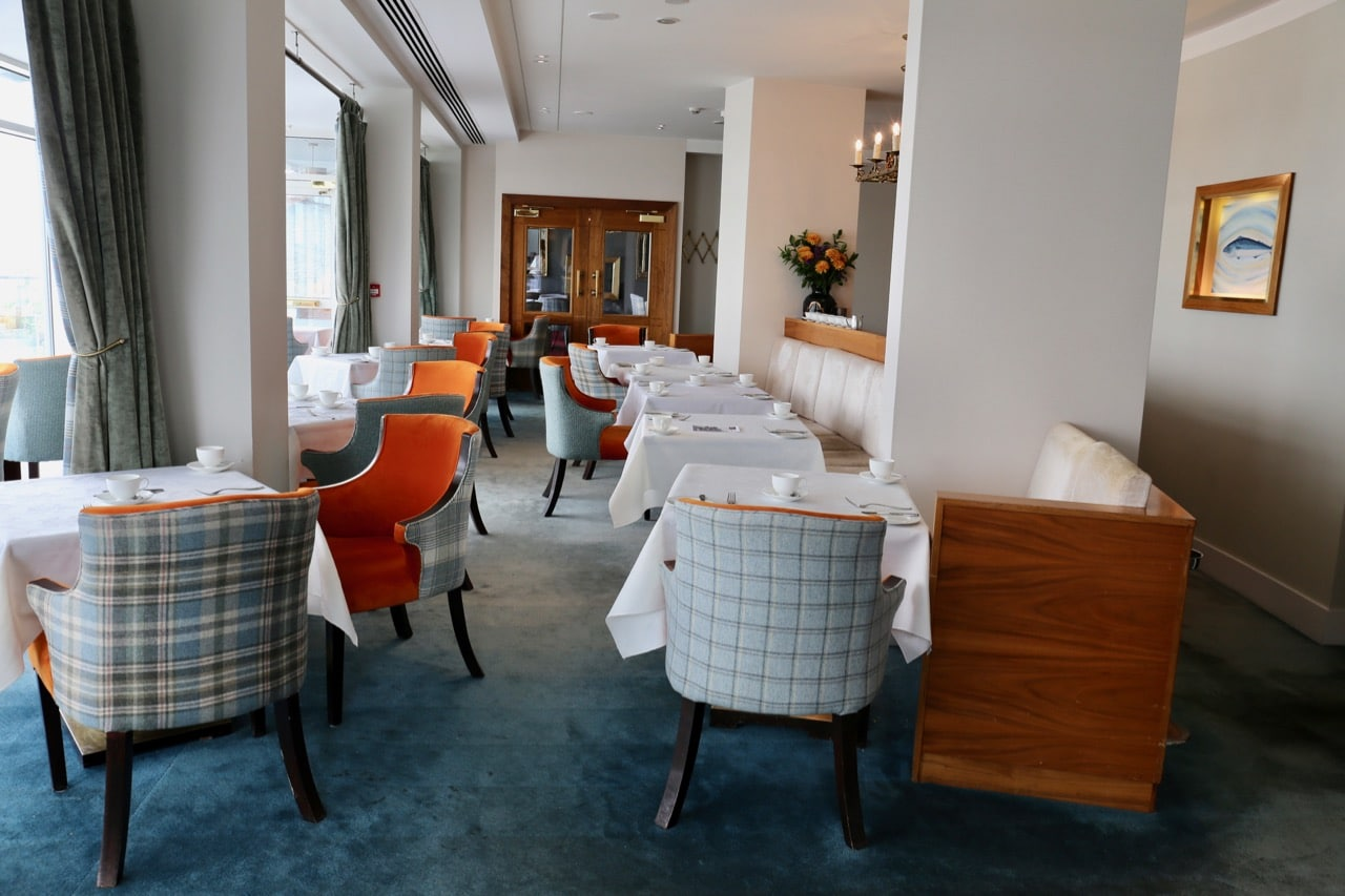 The elegant dining room at Cliff House Ardmore's Michelin starred restaurant.