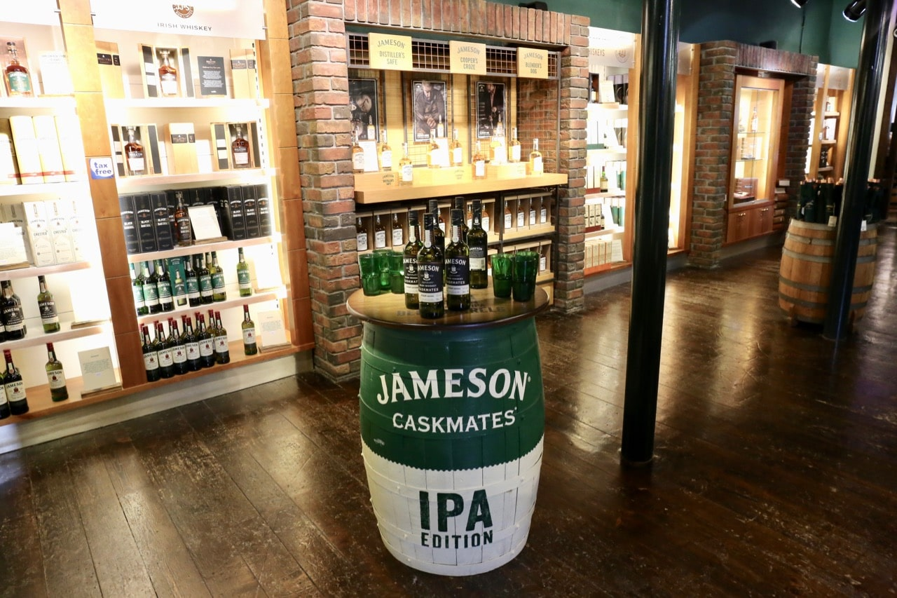 After finishing your Jameson Distillery Tour be sure to pop by the well-stocked gift shop.