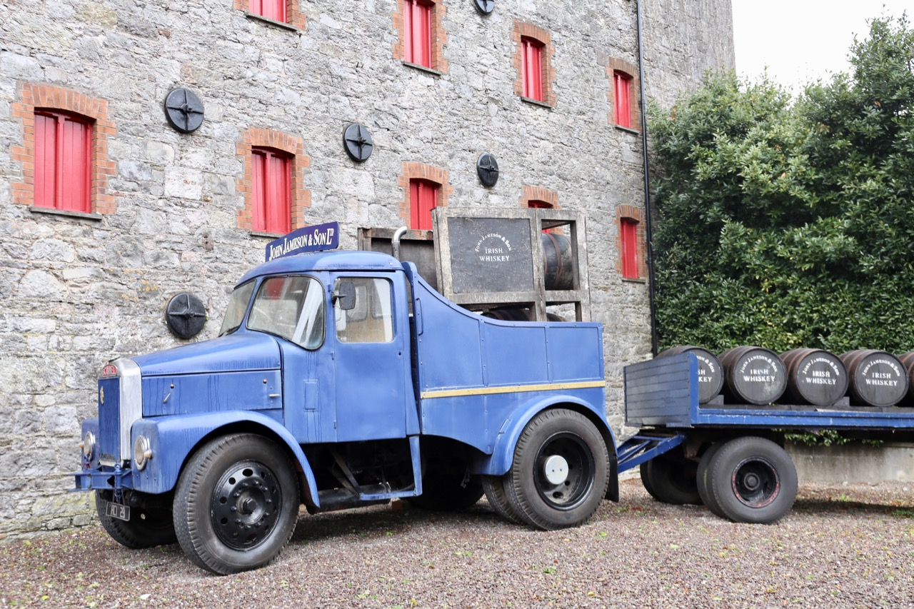 You'll spot plenty of vintage trucks on your Jameson Distillery Tour.