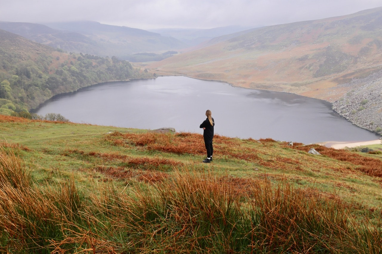 Finish your Ireland Road Trip just outside of Dublin by hiking through Wicklow Mountains National Park.