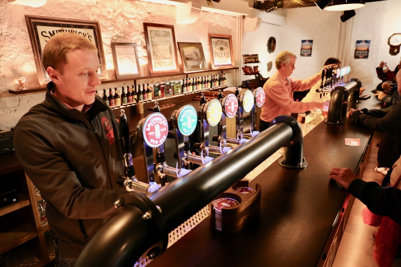 Each Smithwick's Experience Tour ends with a free pint in a spacious beer bar.