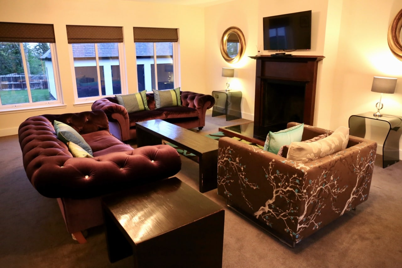 A luxurious living room at the Mini Manors.