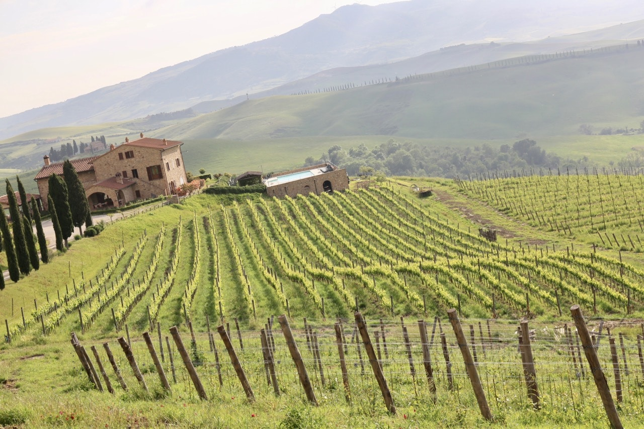Agriturismo Volterra Podere Marcampo is located on an award-winning vineyard.
