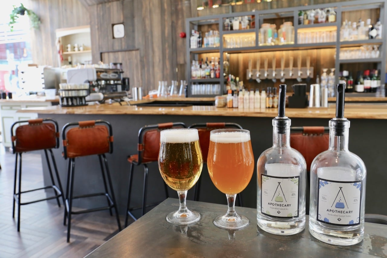 Edinburgh Breweries: Apothecary Bar features a 2nd floor brewery and distillery.