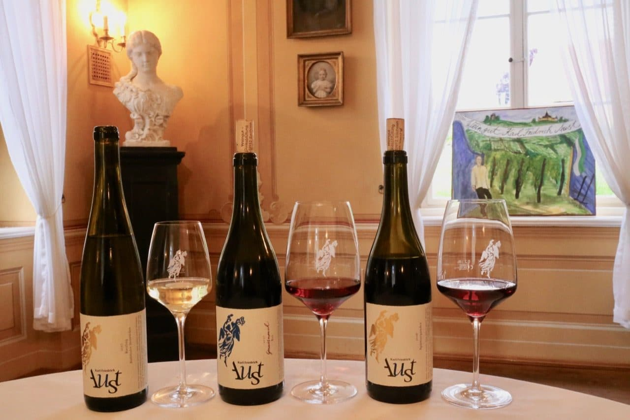 Sample Saxony's best wine at Karl Friedrich Aust Winery's intimate garden room.