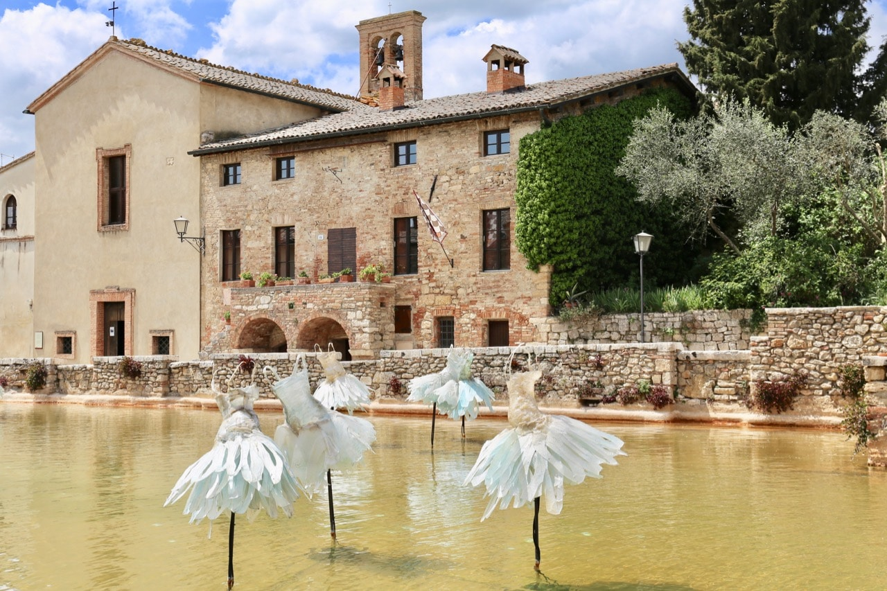 Bagno Vignoni skipped the town square and replaced it with an ancient thermal pool.