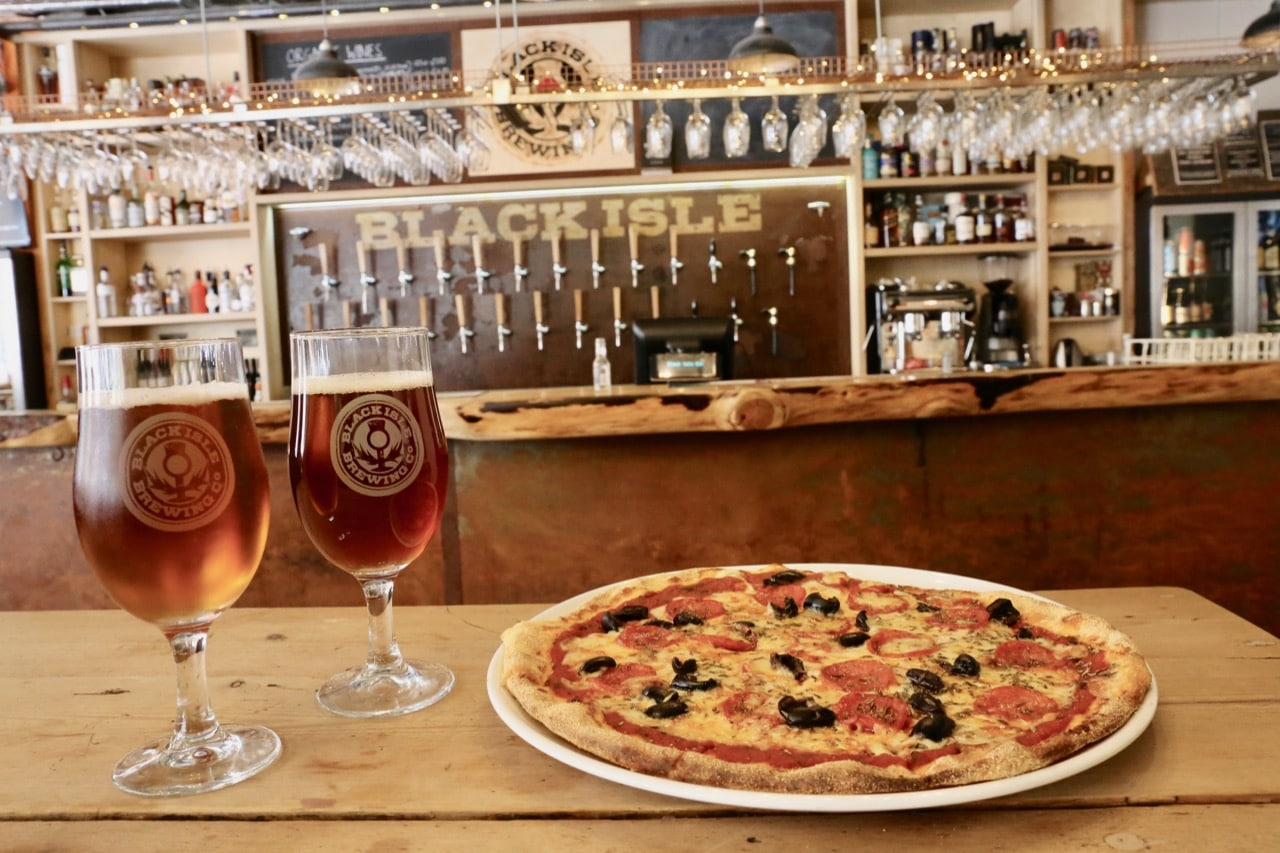 Craft beer lovers can enjoy the best pizza in Inverness at Black Isle Bar.