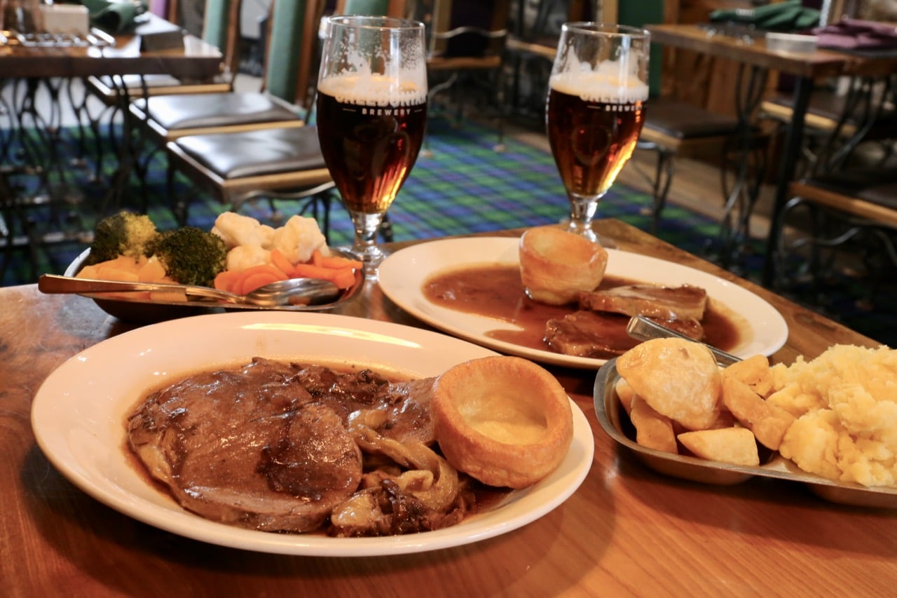 Bowmore Hotel is a popular watering hole for locals serving a Scottish Sunday roast.