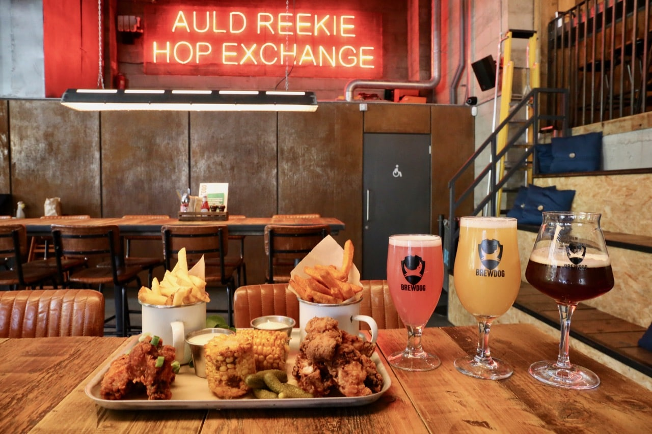 Edinburgh Breweries: Enjoy craft beer paired with mouth-watering chicken wings at Brewdog.