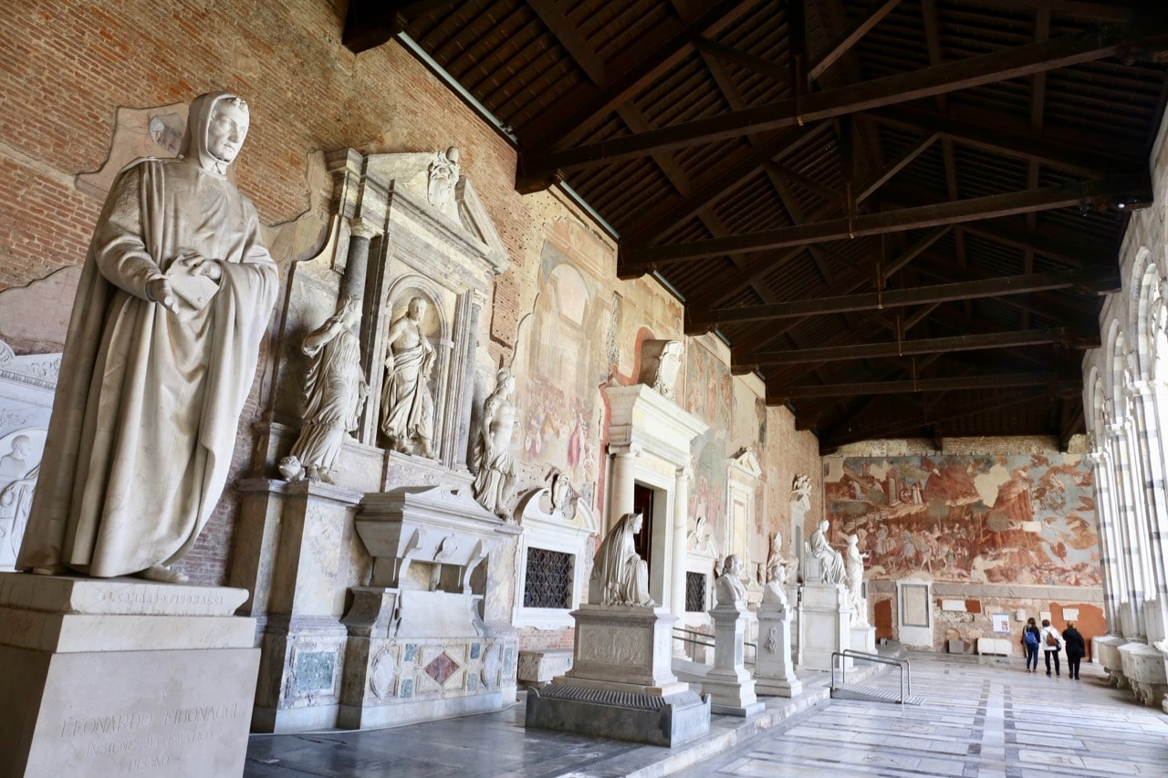 The Camposanto is a popular attraction in Pisa for art lovers as it contains ancient religious murals.