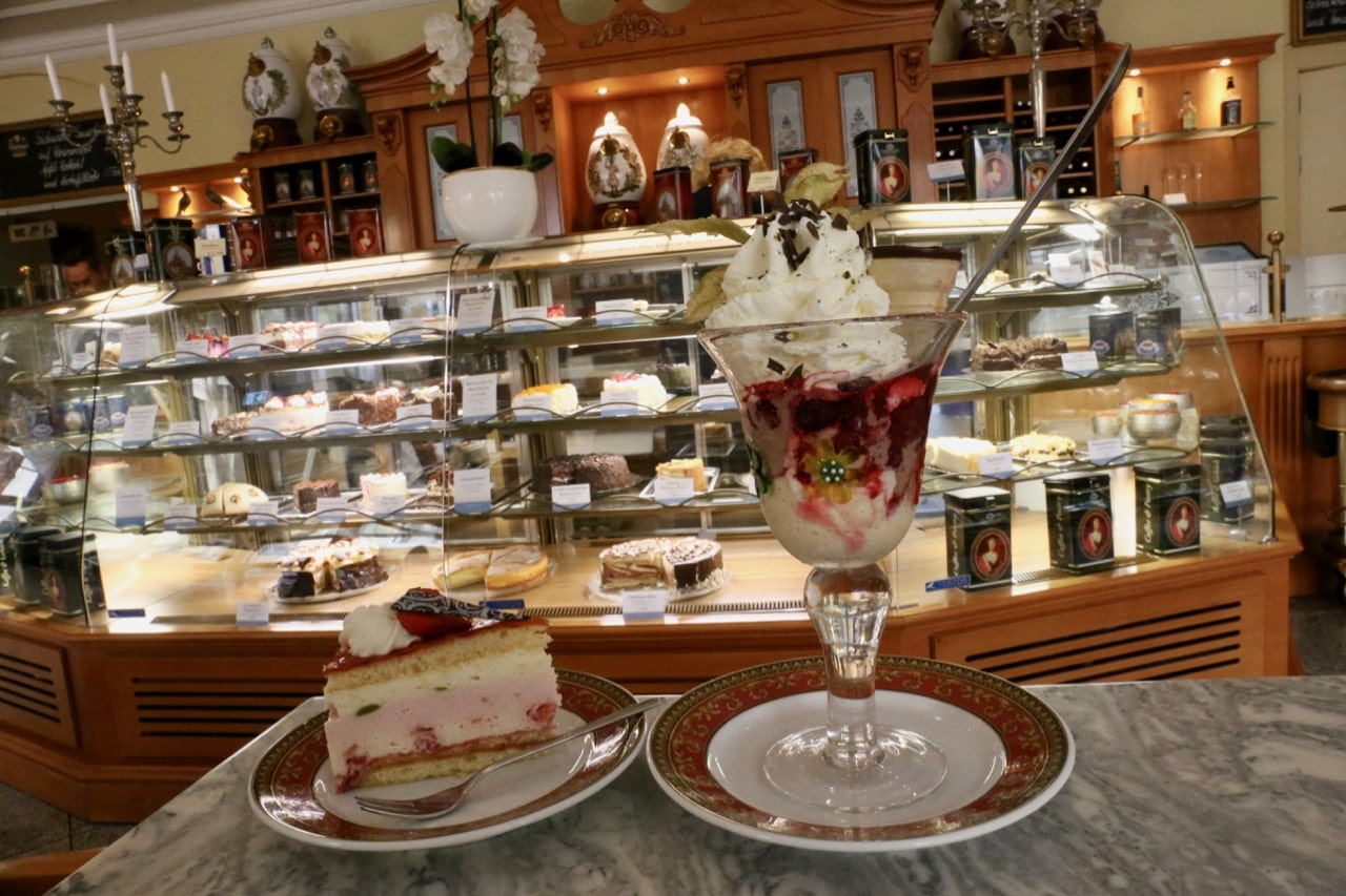 Enjoy coffee and cake at Coselpalais Grand Cafe.
