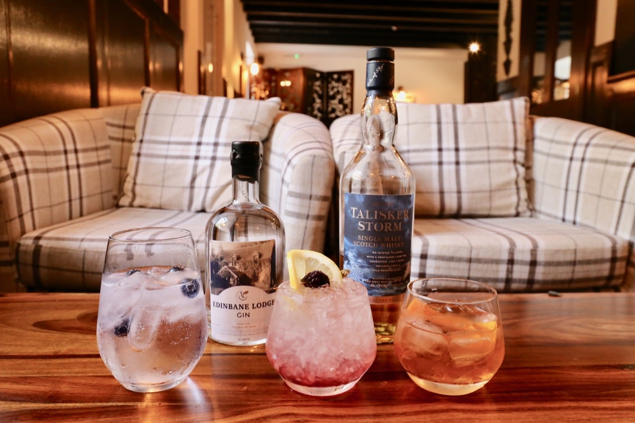 Sip local Skye spirits such as Edinbane Lodge Gin and Talikser Storm Whisky.