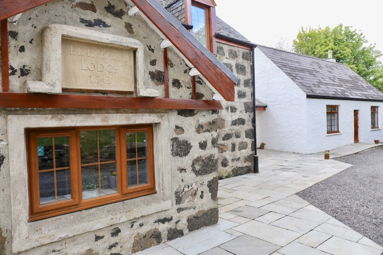 Edinbane Lodge is located in a historic 16th century hunting lodge on the isle of Skye.