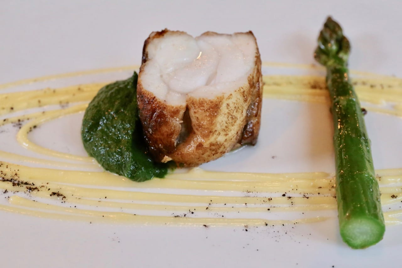 Portree Bay Monkfish with Galtrigill Asparagus and Wild Garlic Hollandaise