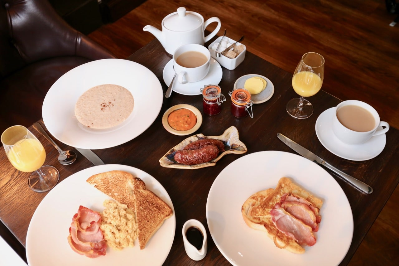Enjoy a relaxing morning feasting on a locally sourced Scottish breakfast.