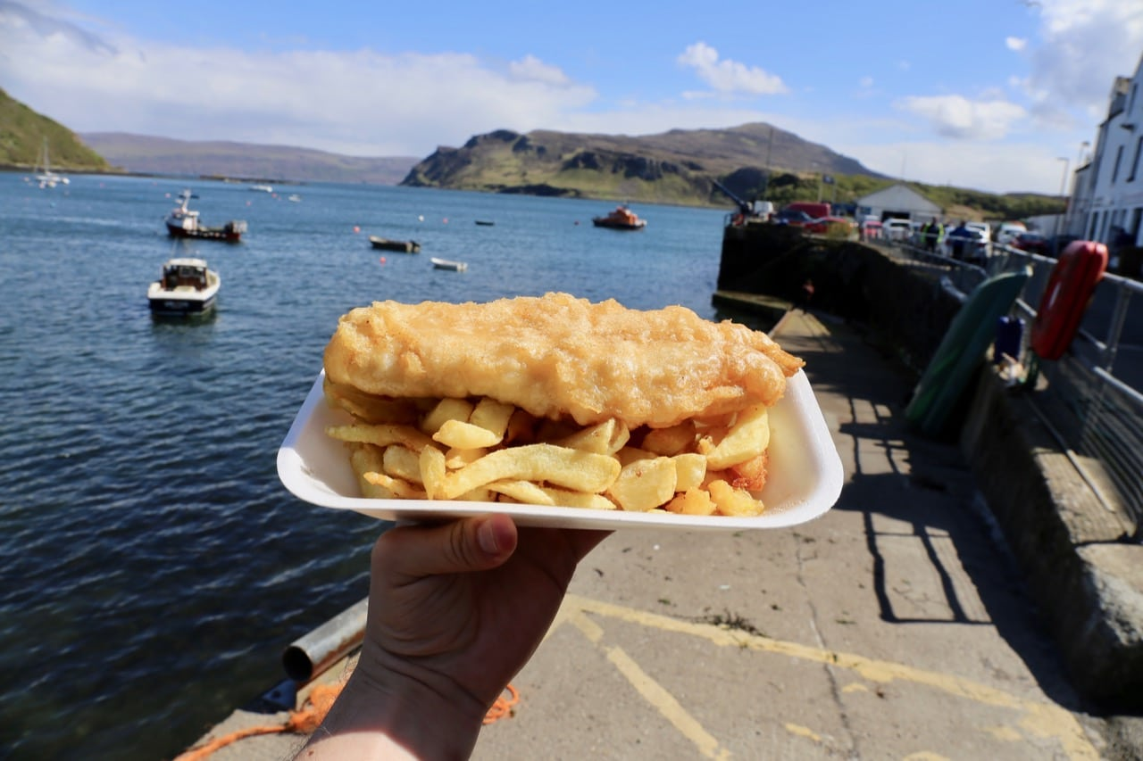 Enjoy Fish & Chips in Portree at Harbour Chip Shop.
