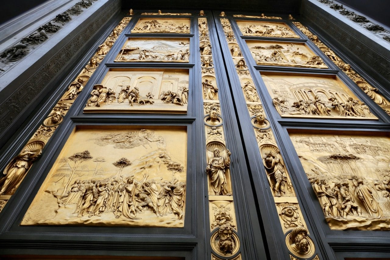 Gawk at Ghiberti's bronze doors at the Florence Baptistery.