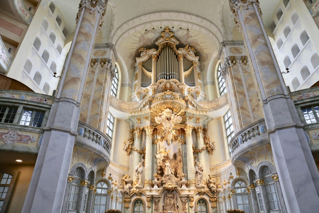 Frauenkirche is one of the most famous churches in Dresden.