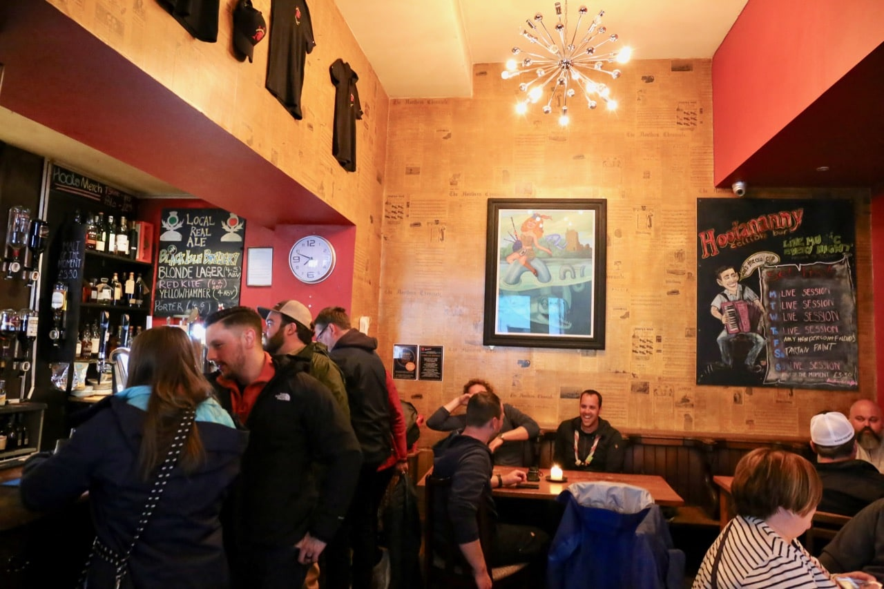 Hootananny is a pub and restaurant that offers late night Scottish folk music.