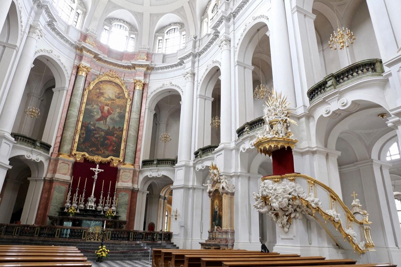 Katholische Hofkirche is Dresden's landmark cathedral.