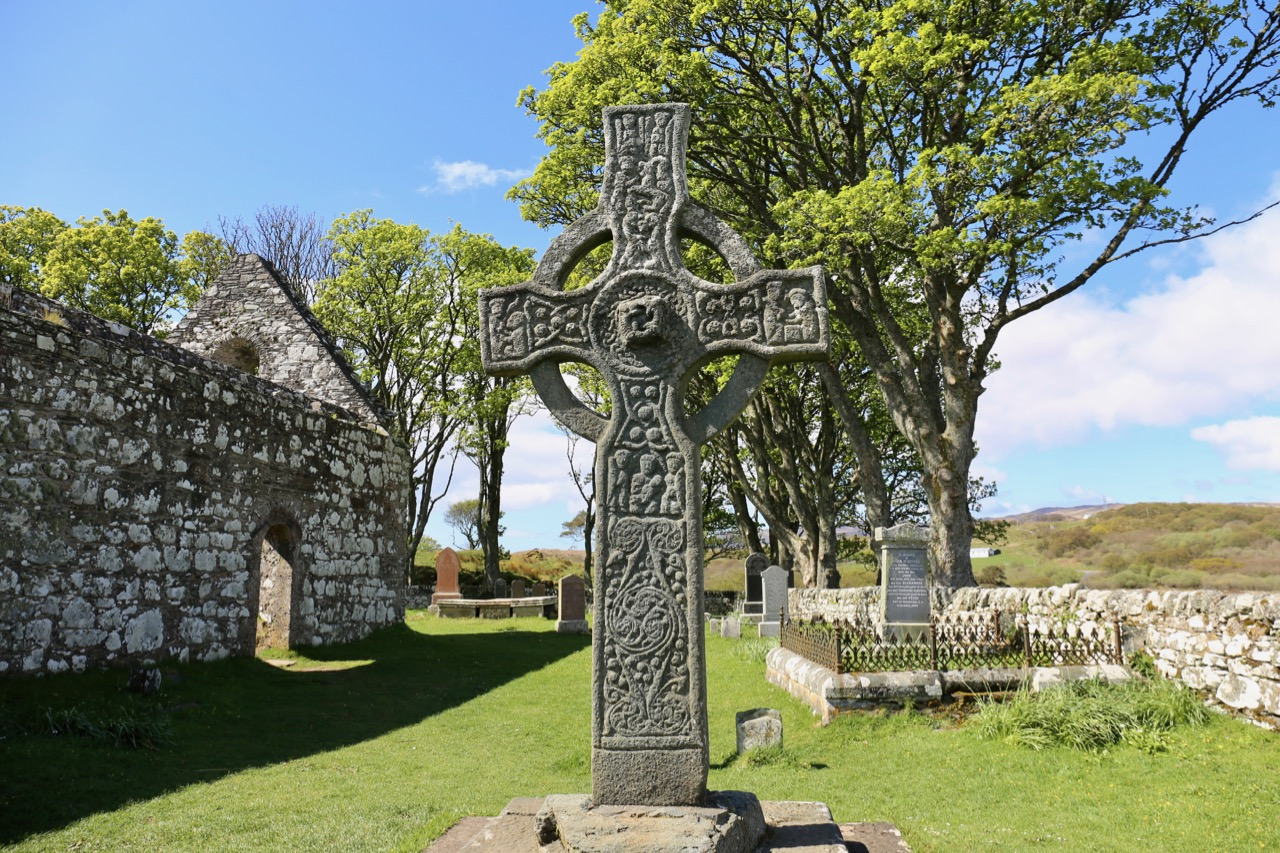 Stare in awe at Kildalton Cross, one of the United Kingdom's most famous Celtic artifacts.
