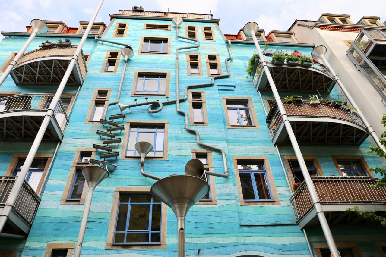 Take a tour of the quirky architecture in Kunsthofpassage Dresden.