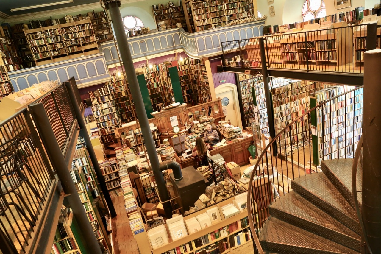 Bookworms can spend hours scouring the shelves at Leakey's Bookshop in Inverness.