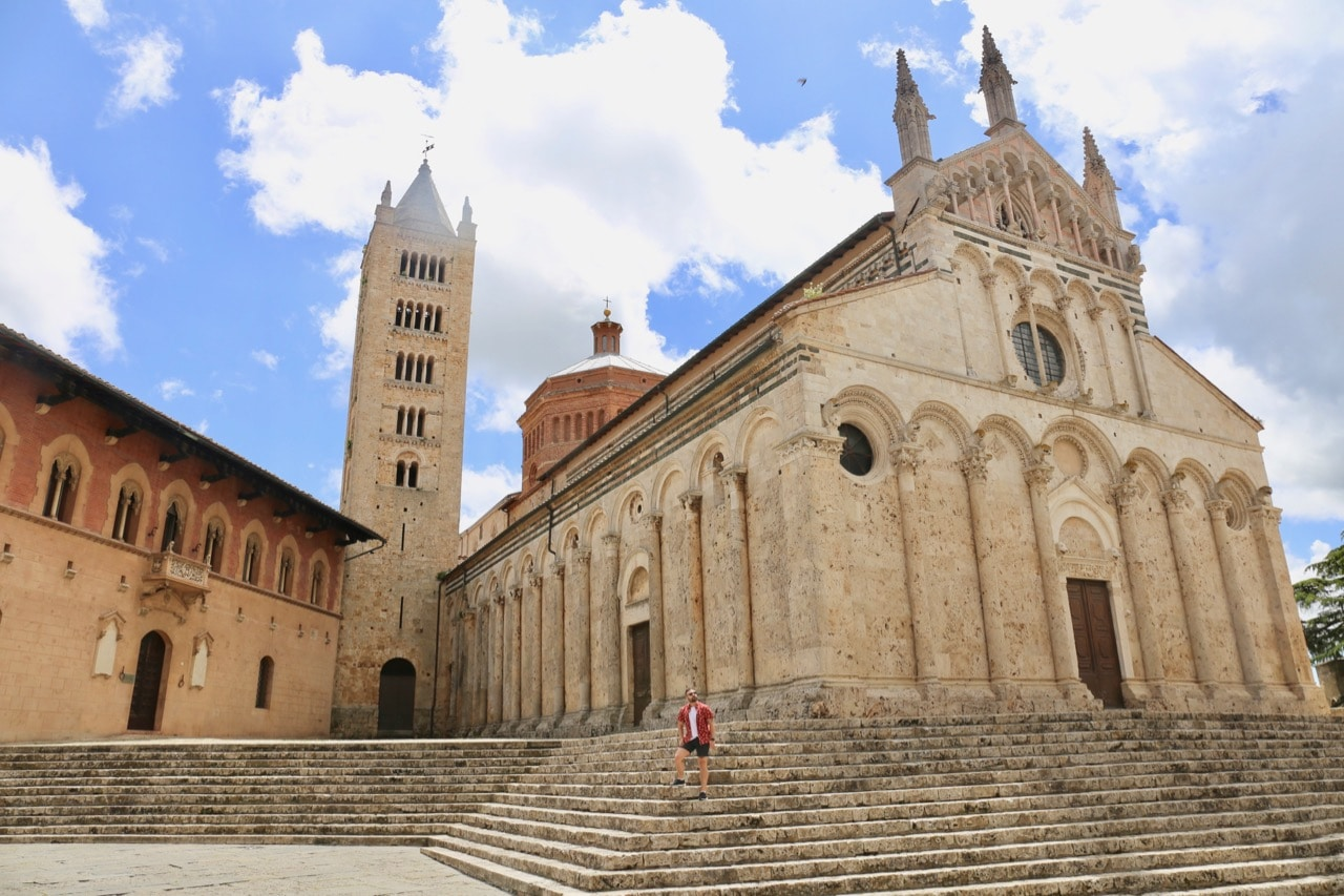 Skip up the steps to  Massa Marittima's iconic cathedral.