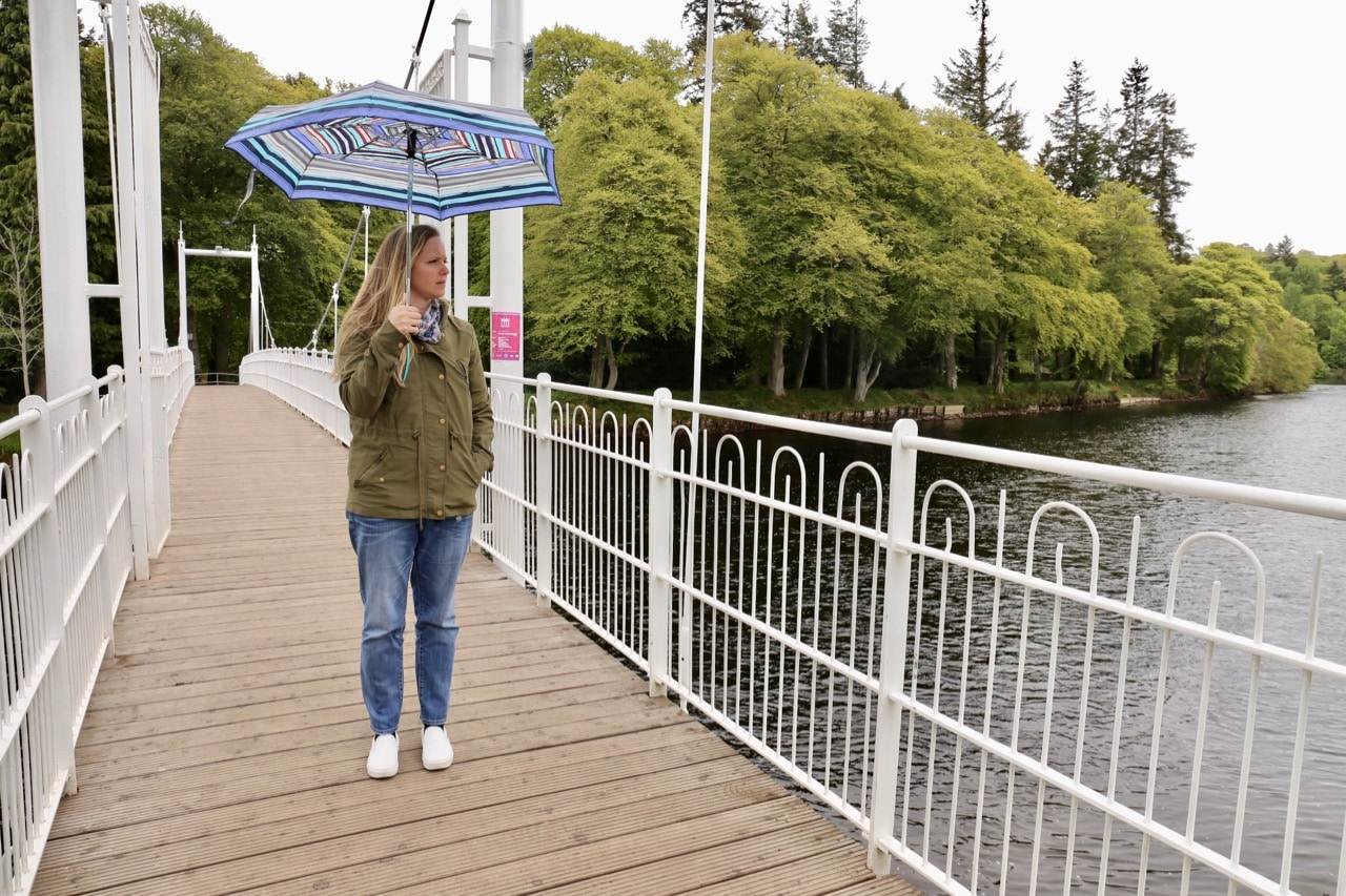 The Ness Islands offer nature trails with bridges that straddle the city's scenic river.