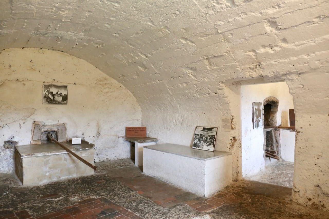 The room where Pitigliano Italy's Jewish community baked unleavened bread.