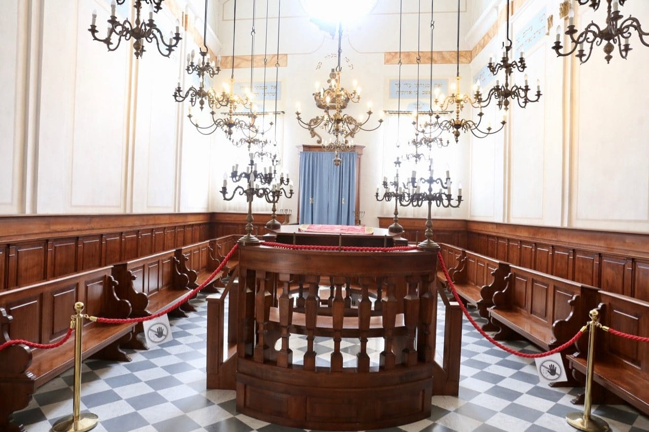 The interior of the Pitigliano Synagogue.