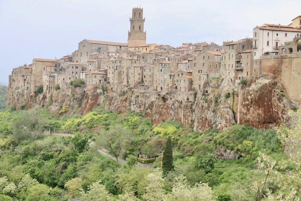 A postcard-perfect view of Pitigliano Italy.