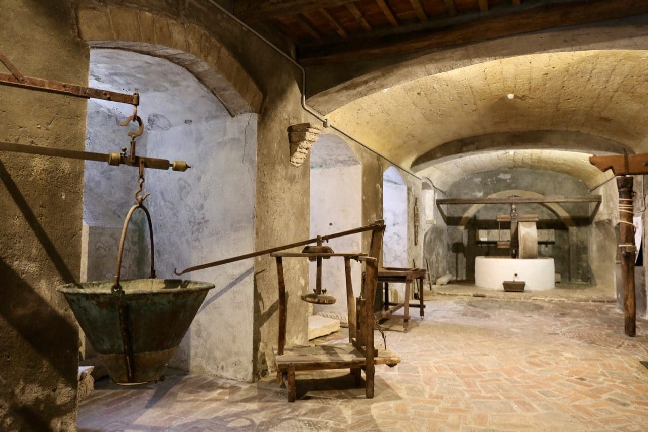 Don't forget to visit the museum's basement to learn about how locals used to process olive oil.