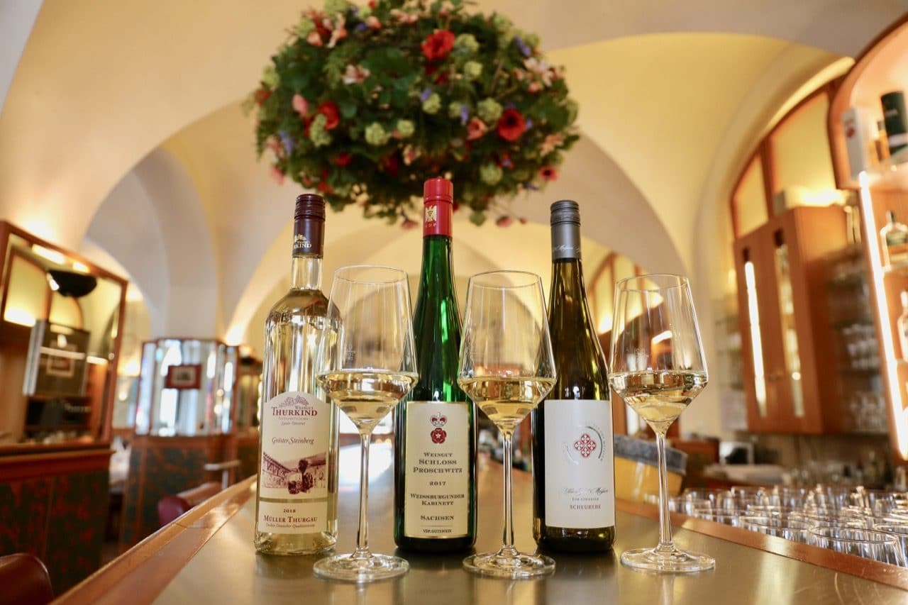 Enjoy a German wine tasting at Restaurant Weinstock.