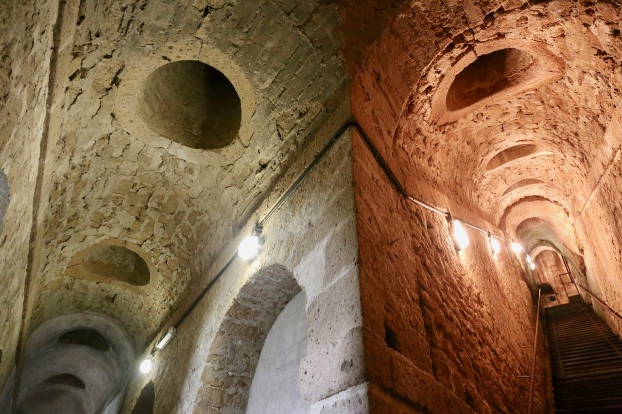 Take a guided tour of the underground military tunnels at Orsini Fortress.