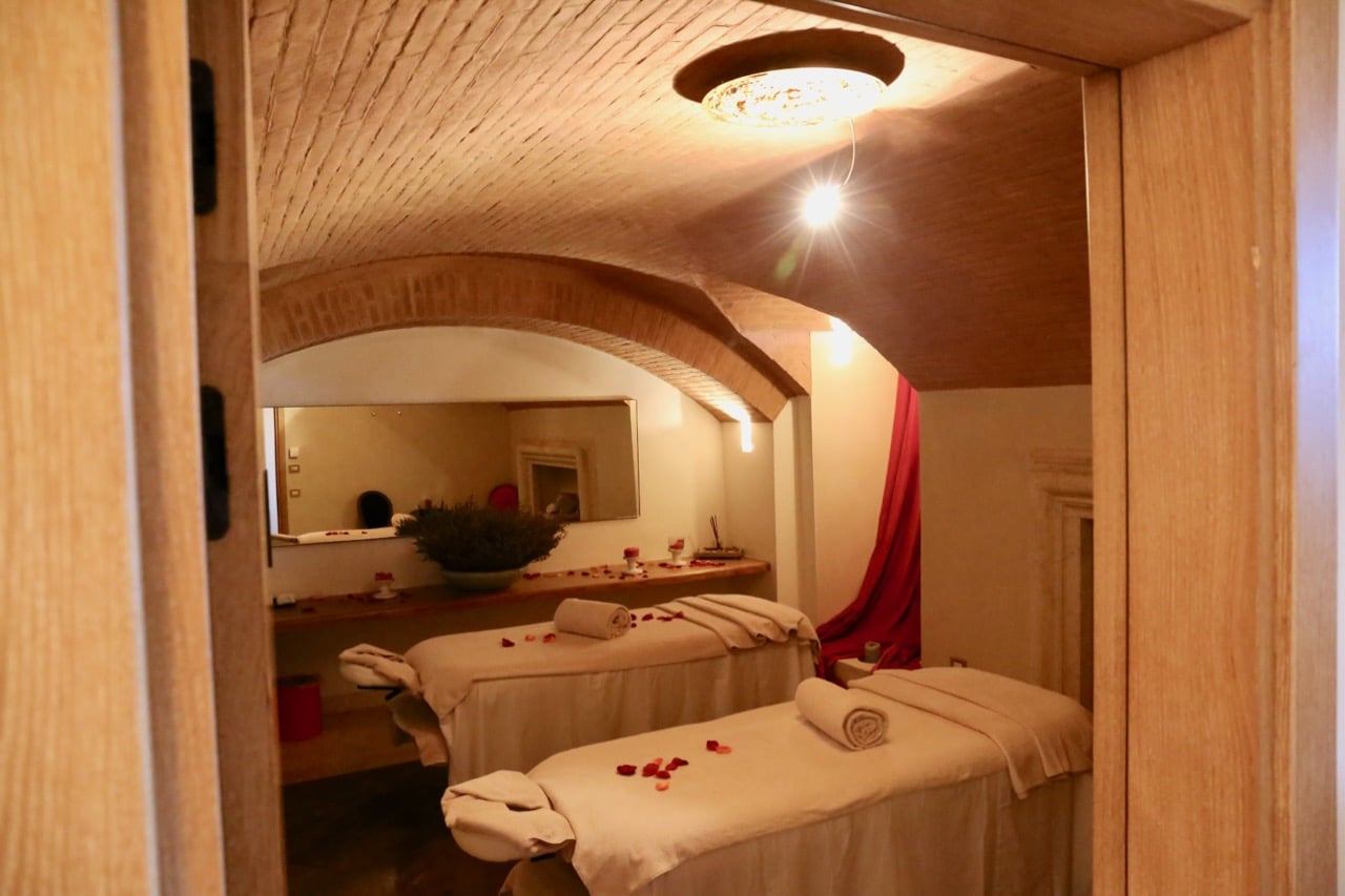 Enjoy a couples massage at the hotel's award winning Montalcino spa.