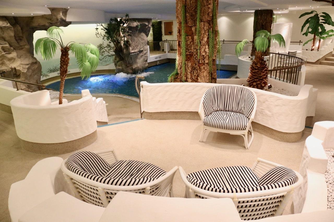 The indoor pool the Furstenhof Hotel's full-service spa.