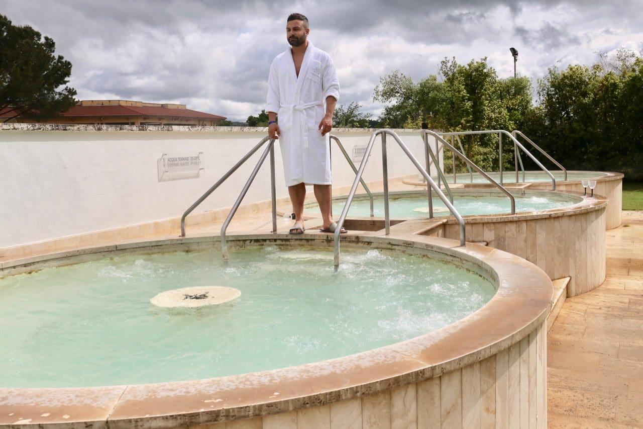 Saturnia Hot Springs hot tubs.