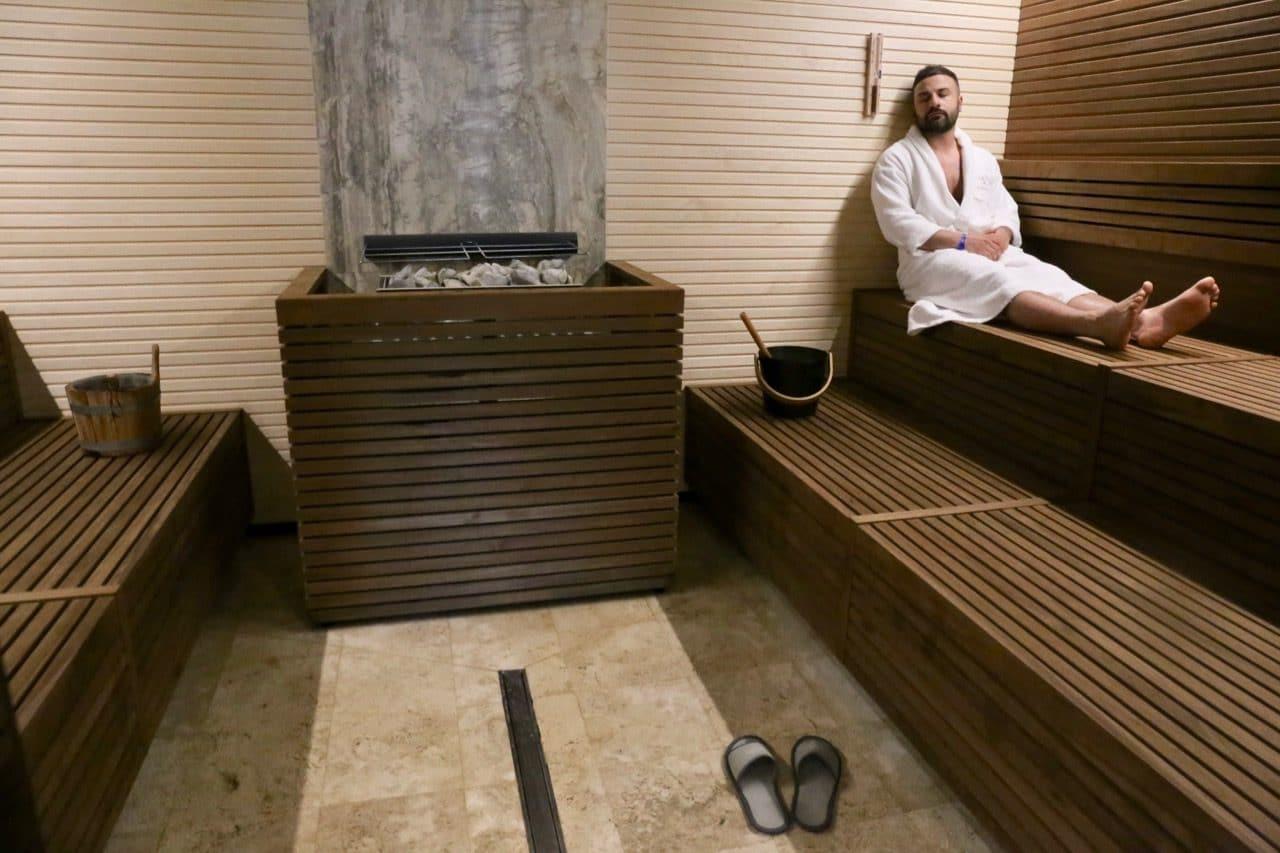 Terme di Saturnia Resort's Swedish sauna facilities.