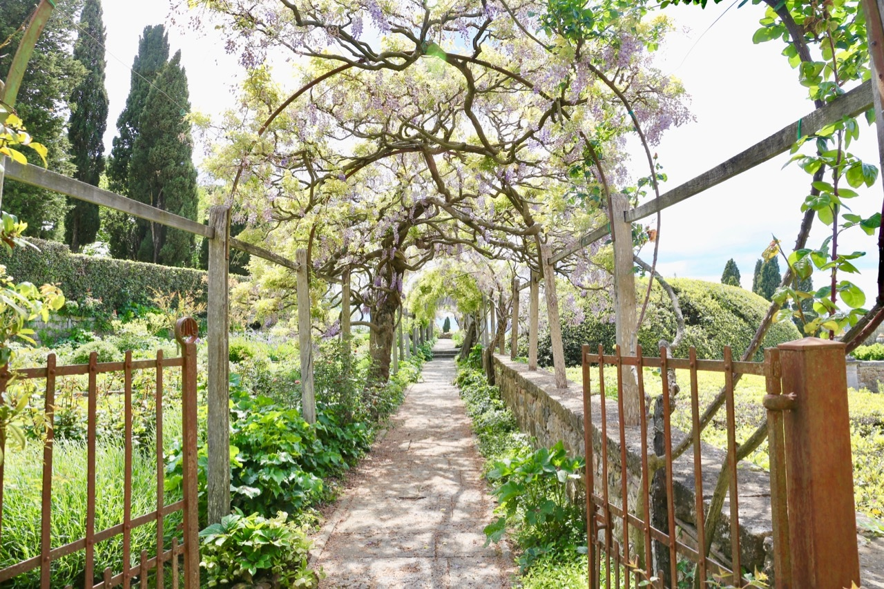 Flower lovers on a honeymoon in Tuscany should book a tour of the sweet smelling La Foce Gardens.
