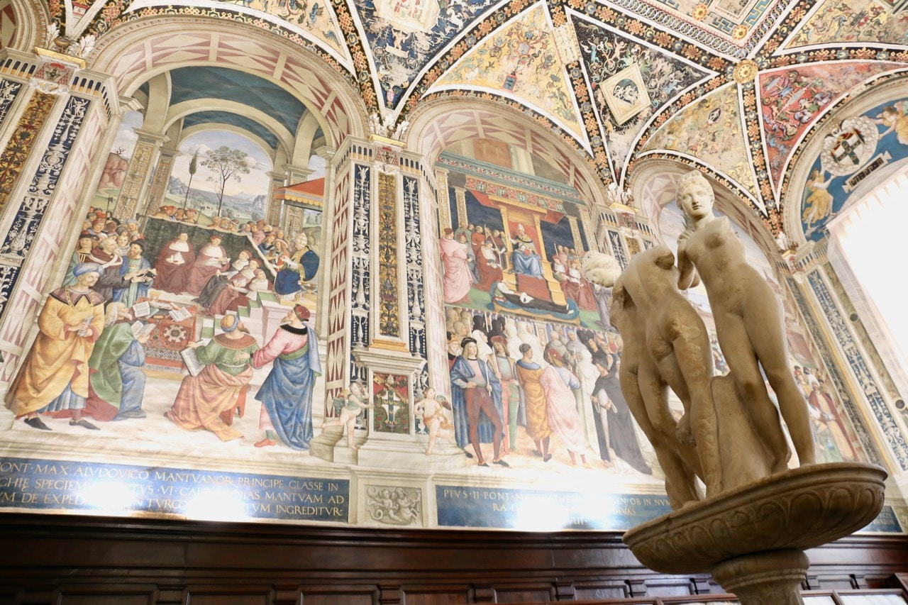 Be sure not to miss the hidden Piccolomini Library at Siena Cathedral.