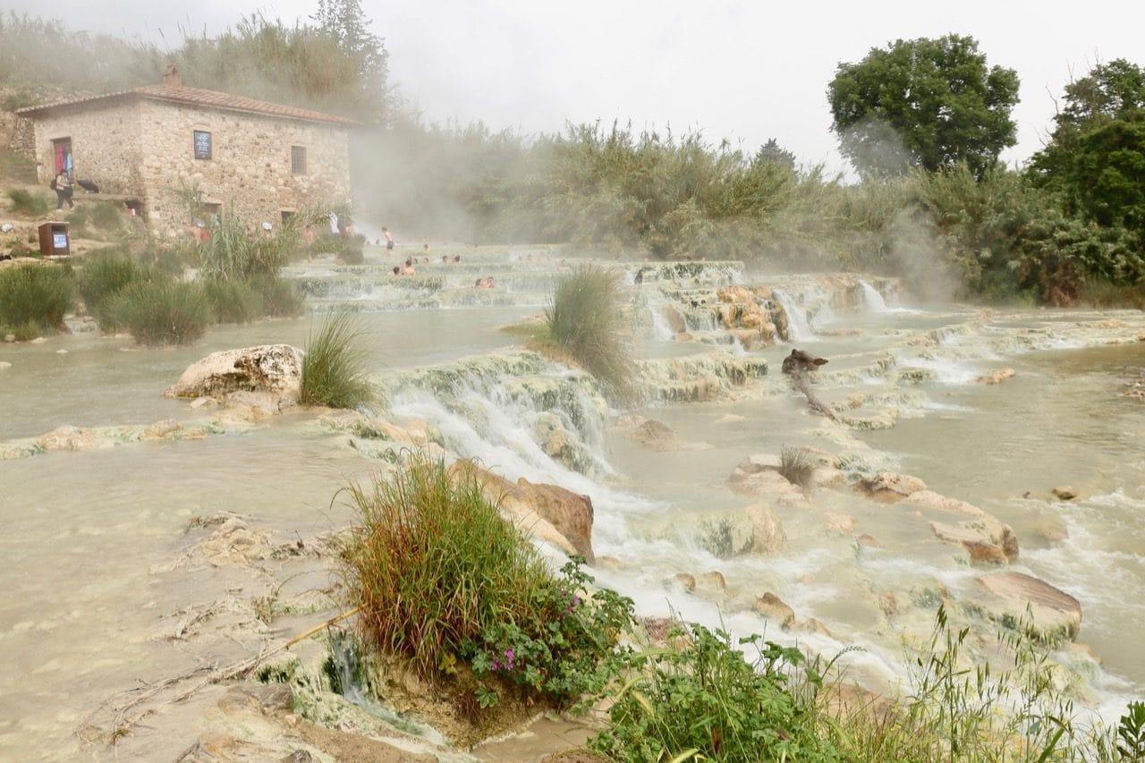 Saturnia Hot Springs luxury hotel spa.