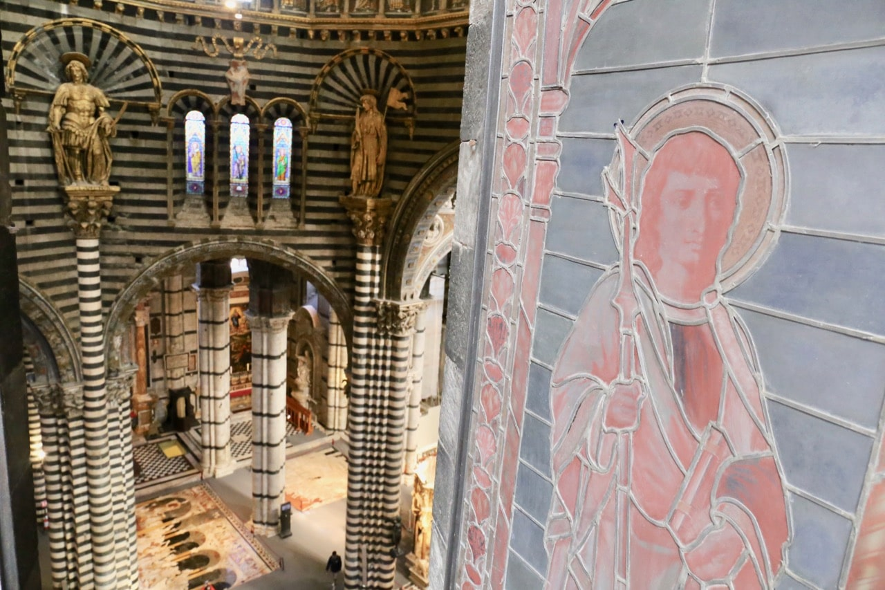 Book a tour of Siena Cathedral's attic to enjoy a unique birds eye view of the interior.